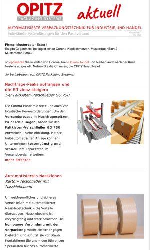 Opitz Newsletter